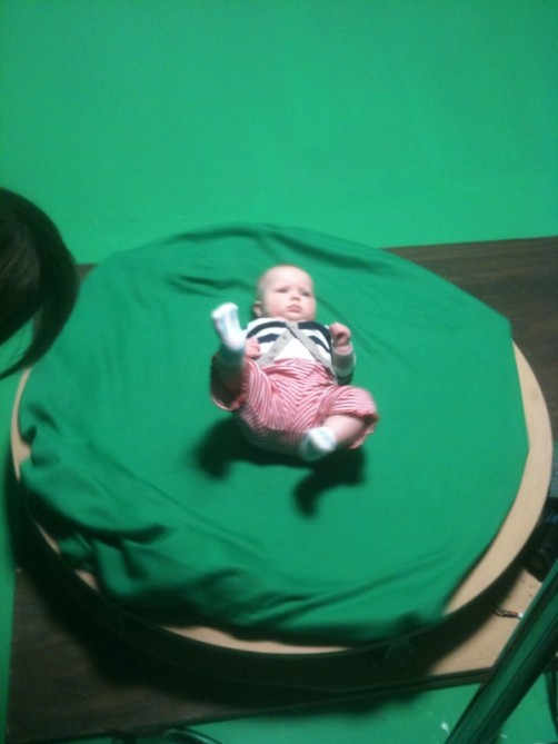 green screen baby