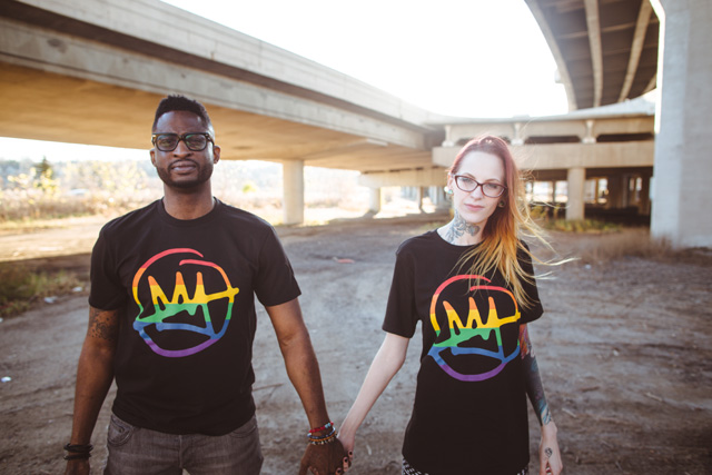 Doomtree %22No Kings%22 Rainbow Shirt