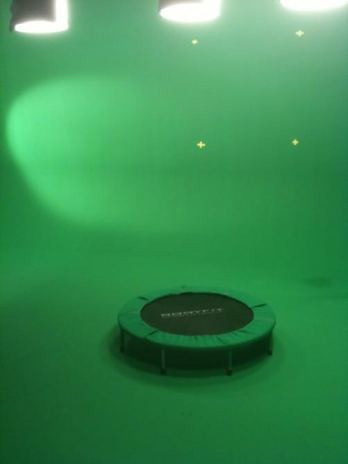 green screen tramp