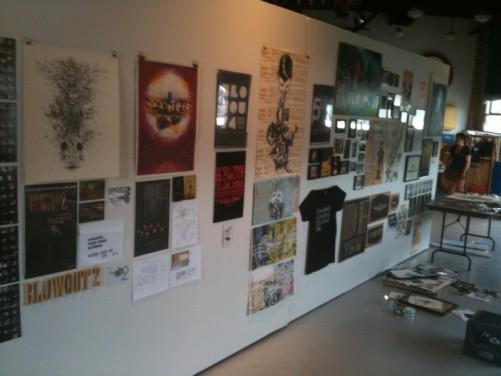 art show wall