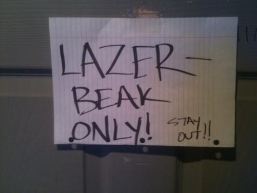 lazerbeak backstage