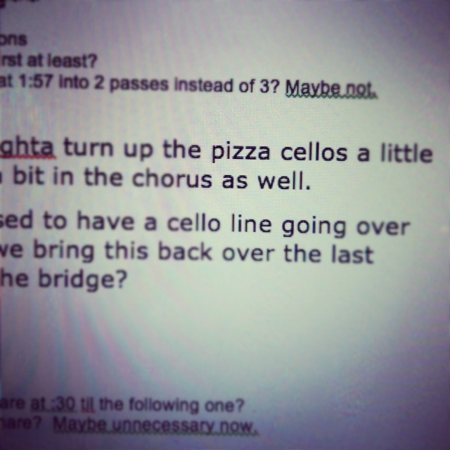 pizza cellos